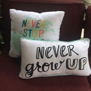 Two inspirational pillows